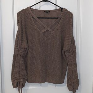 Tan express sweater